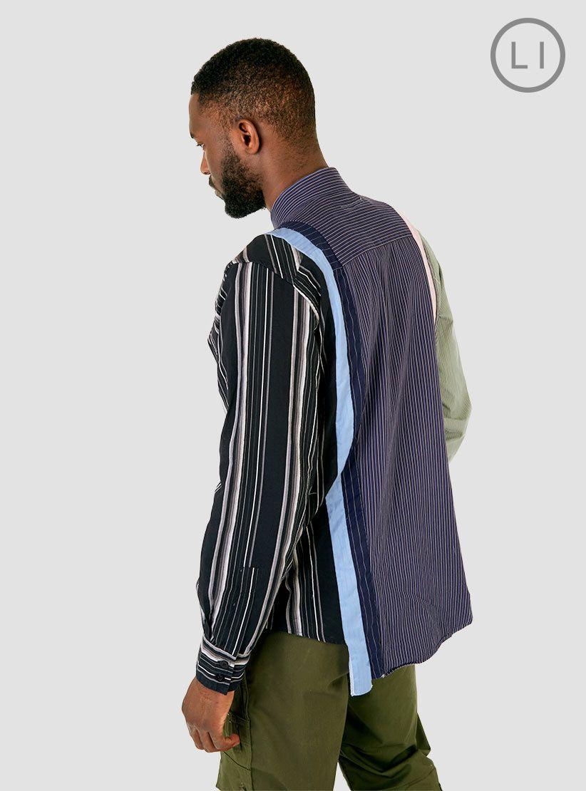 7 Cuts Broad Cloth Shirt Stripe