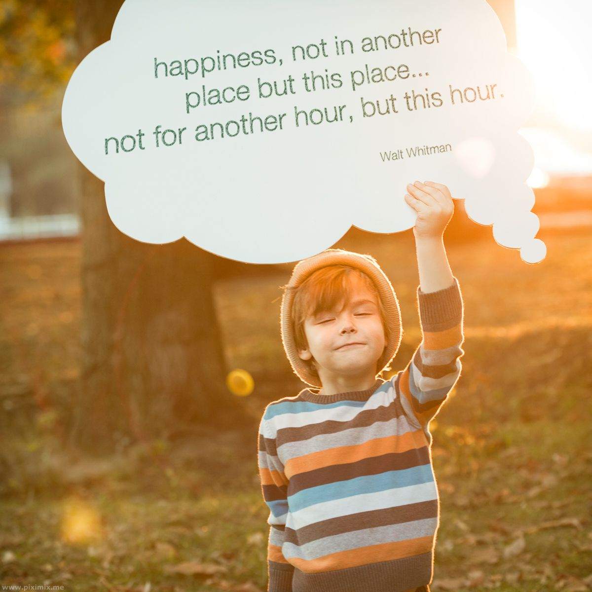 my sunday inspiration about happiness, about living in the here and now. Really being where you are, and not with your mind on all the tasks and...
