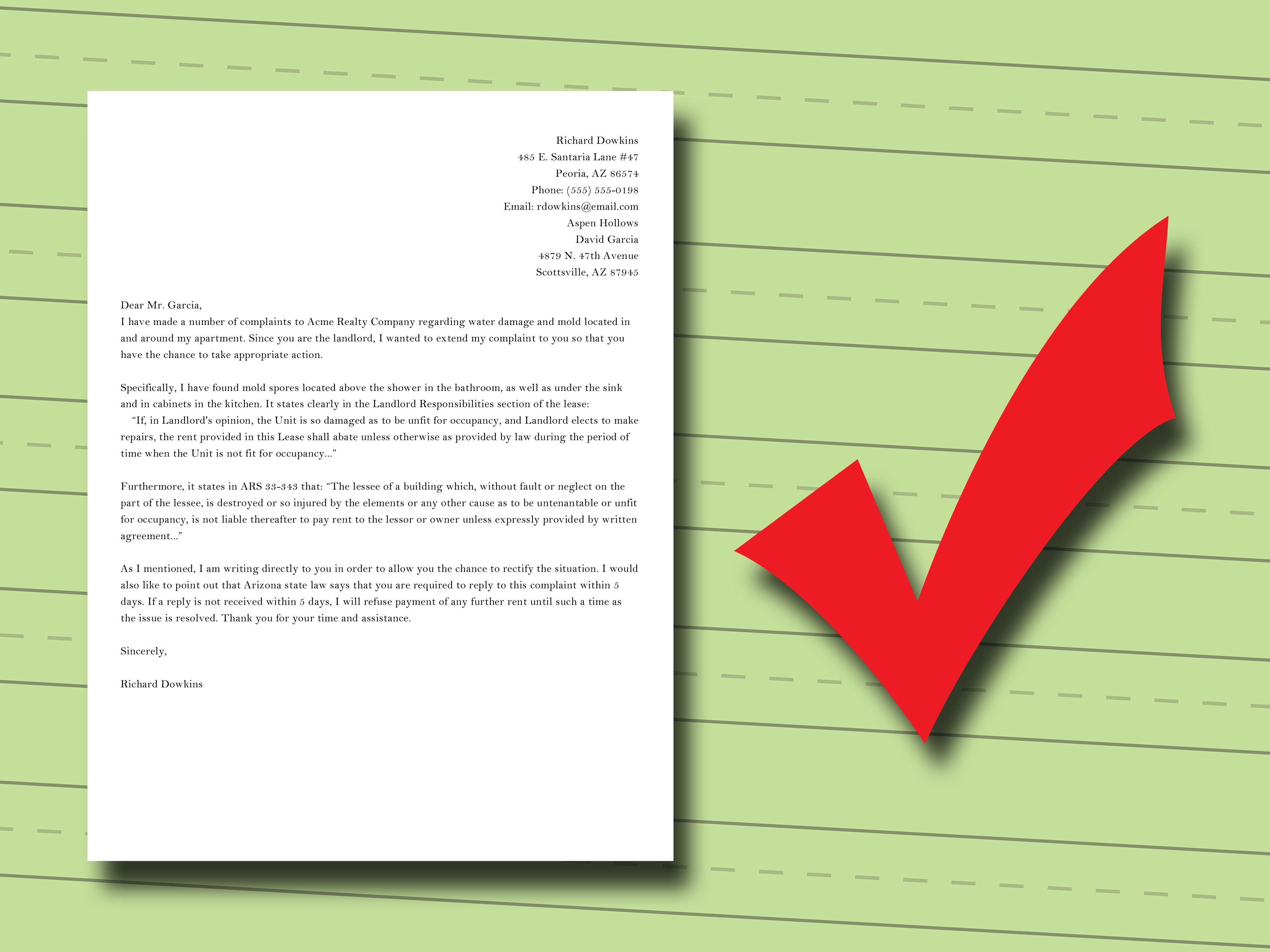 How to Write a Complaint Letter to Your Landlord  Business letter