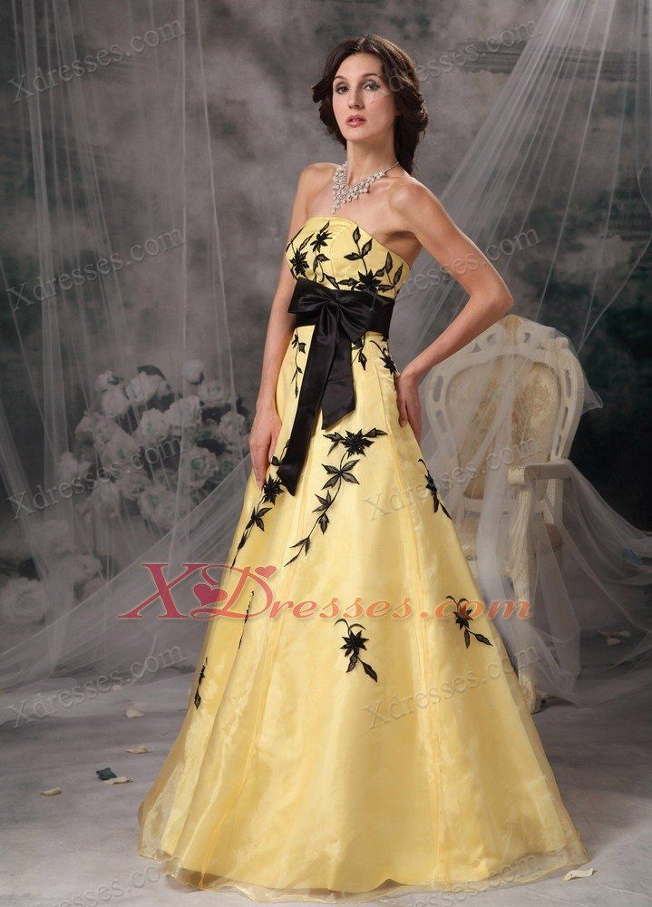 Black and yellow evening dresses | Good style dresses | Pinterest ...