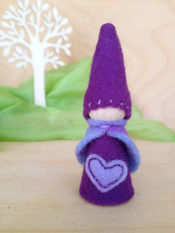Wooden Peg Gnome Waldorf and Montessori inspired by SepAndAugust, €4.98