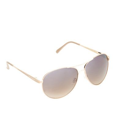 747ae7aaa5  16.99 Take a look at this Gold   Nude Coated Aviator Sunglasses on zulily  today!