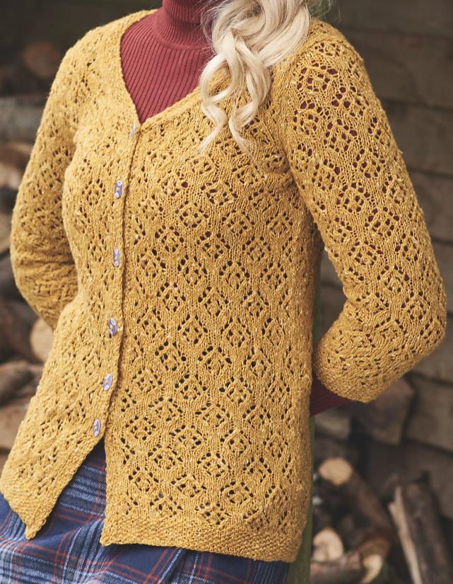 Knitting Pattern For Winter Sun Lace Cardigan Stunning Lace