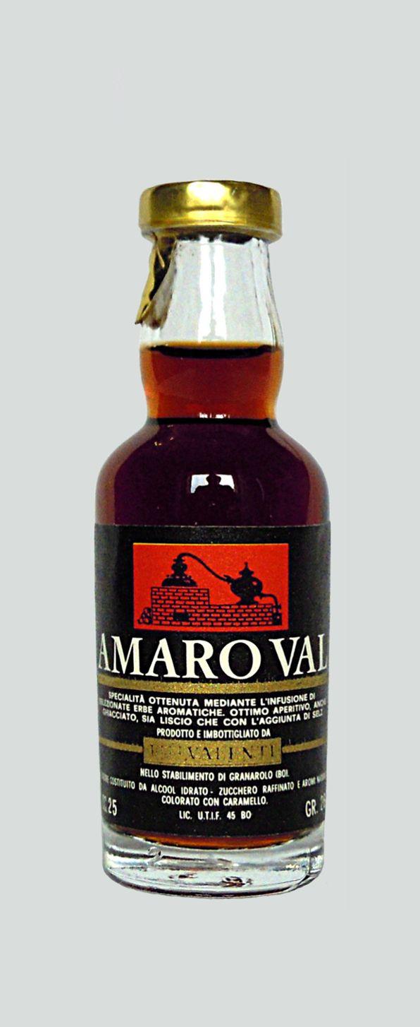 Valenti Eridanea - Mini Liquor Bottles - Bitter Val - https://sites.google.com/site/valentieridanea/