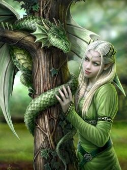 doncella y dragon