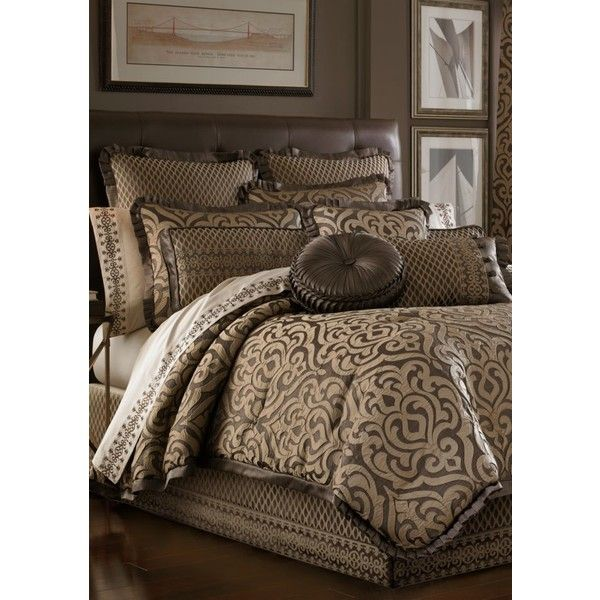 j queen new york mink luxembourg k cmf set aed liked on polyvore featuring home bed u0026 bath bedding comforters mink damask bedding