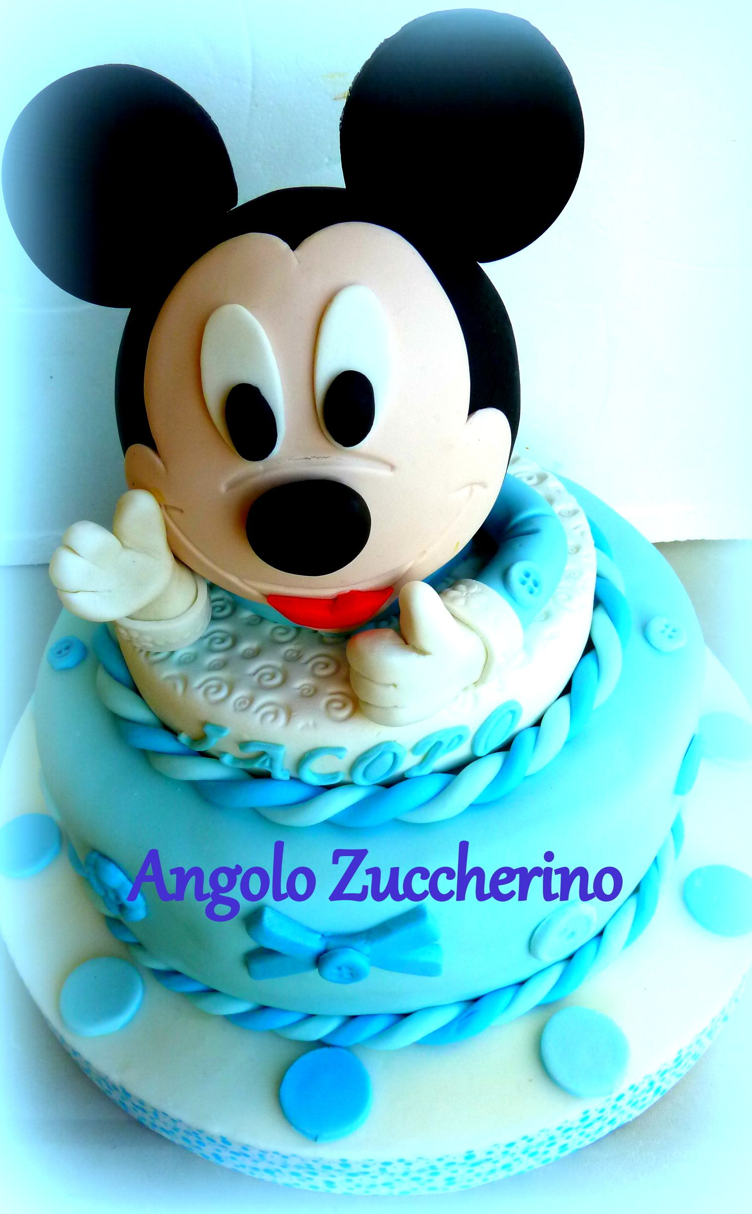 Michey Mouse torta di compleanno 1 anno bimbo Pan di spagna