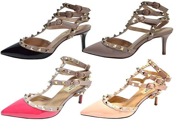 d337b991d026 Kaitlyn Pan Slingback Kitten Heel Leather Pumps (Valentino Rockstud  knockoffs)