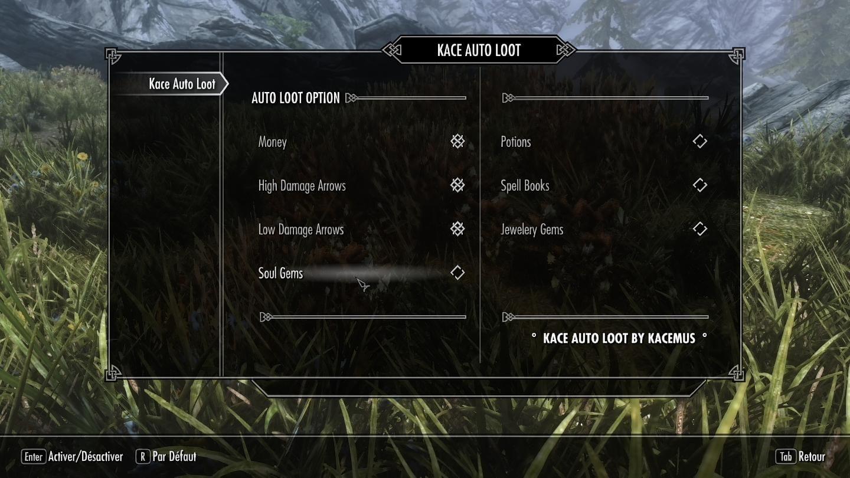 Kace Auto Loot - MCM Configurable Autoloot | Skyrim Mods
