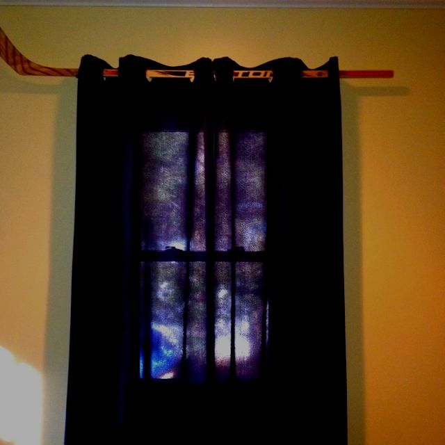 Hockey Stick Curtain Rods Hockey Stick Furniture Grommet Panels Hockey Stick