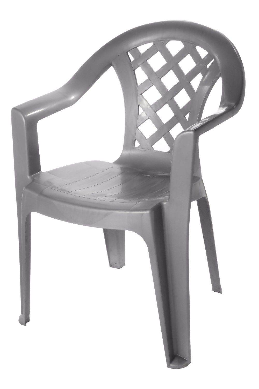 Back Plastic Cross Design Chair