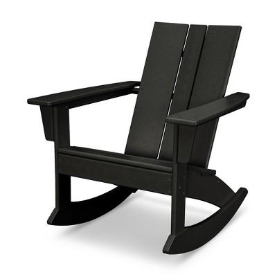 Excellent Polywood St Croix Modern Rocker Black Products Uwap Interior Chair Design Uwaporg