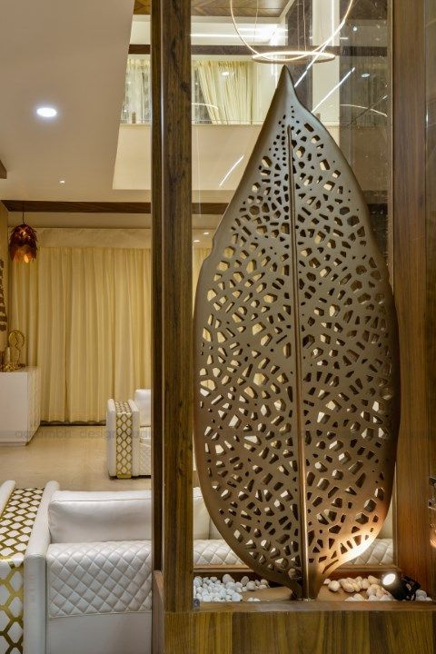 Contemporary Indian House In Indore Room Partition Designs