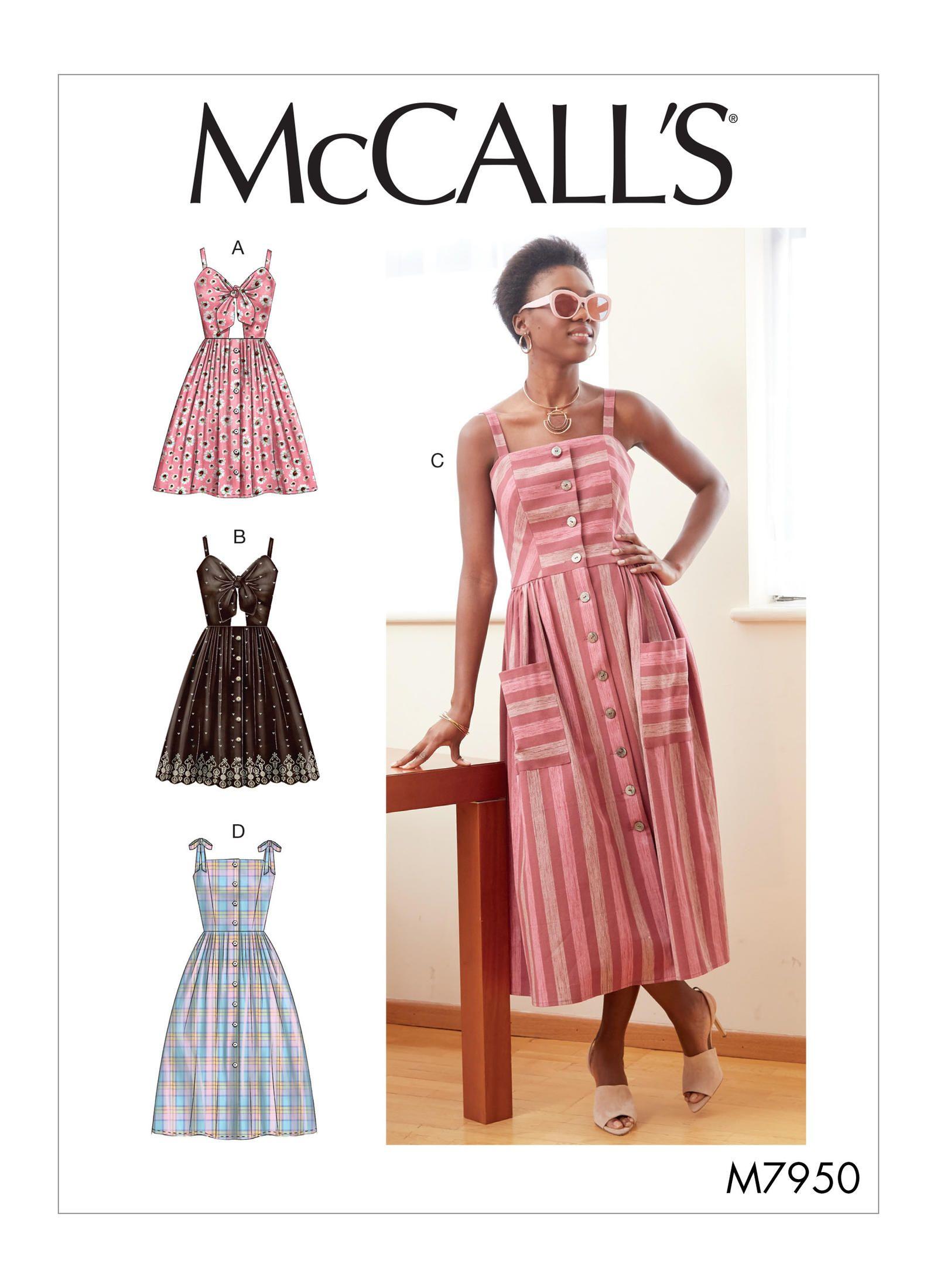 M7950 Misses Dresses Sewing Pattern Mccall S Patterns Summer Dress Sewing Patterns Dress Sewing Patterns Blouse Diy [ 2200 x 1600 Pixel ]