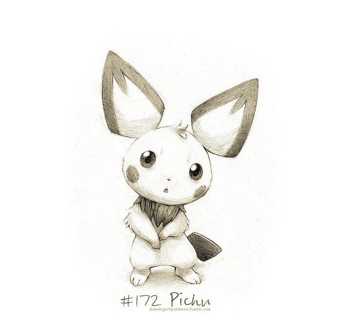 172 Pichu Drawings Of Pokemon Pokemon Drawings Pokemon Sketch Pokemon Art