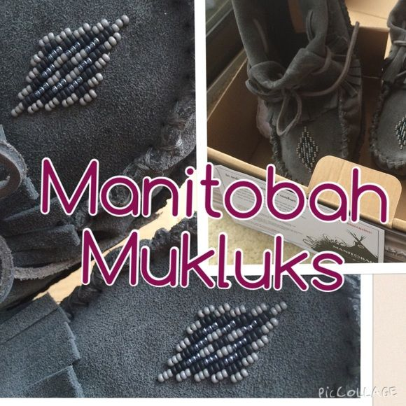 BNIB Manitobah Mukluks Grey, Urban Outfitters 8 Brand new in box, bought from Urban Outfitters, but brand is Manitobah Mukluks. Size 8 in grey. I think they are cool but maybe a bit too cool for me. Bought them last winter and never wore them, so that tells me something! Anyway, they are in pristine condition and clearly well made. The bottom is crepe, not felt! Made to be worn outside! Urban Outfitters Shoes Moccasins