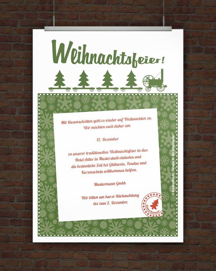 Druckeselbst Einladung Weihnachtsfeier Einladung Weihnachtsfeier Weihnachtsfeier Weihnachtseinladungen