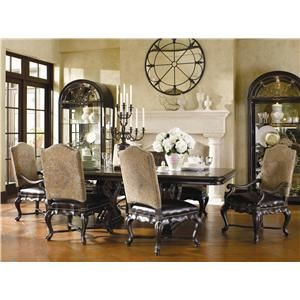 Thomasville® The Hills of Tuscany 7 Piece Trestle Dining Table ...