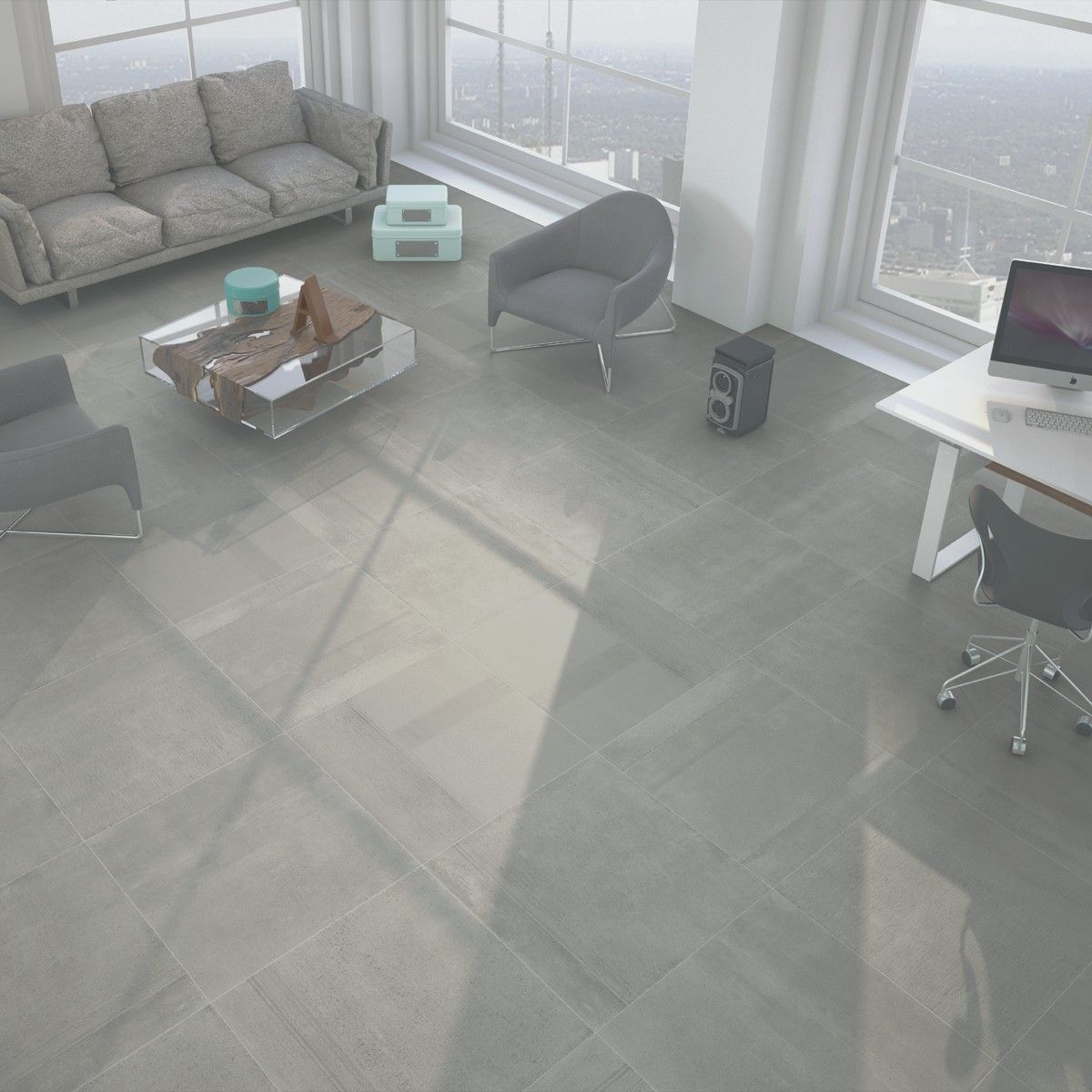 80x80 Genoa Lapatto Cinder Rectified Floor Tile Tile Choice