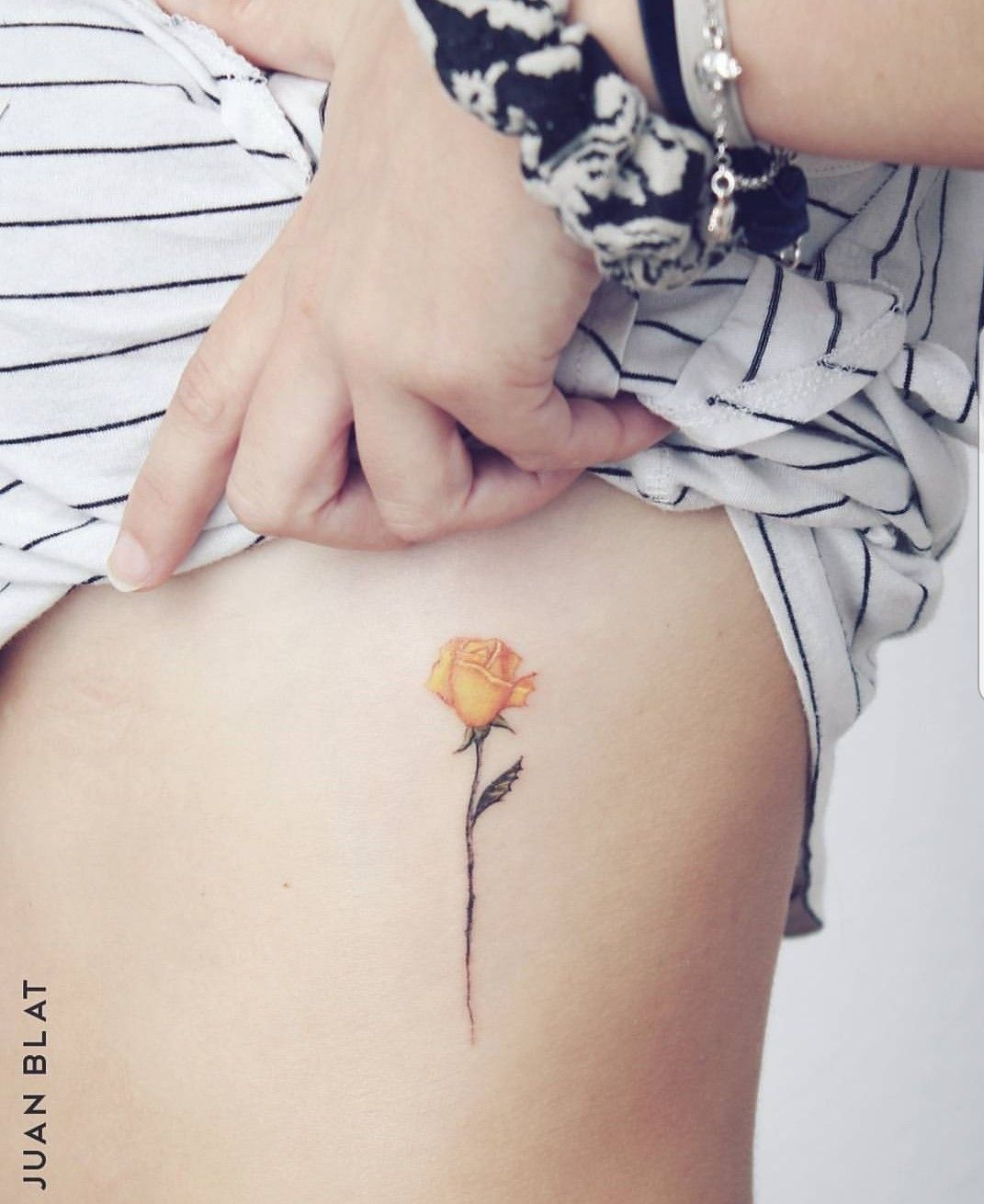 Small Yellow Rose Tattoo Tiny Rose Tattoos Rose Tattoos For Women Yellow Tattoo