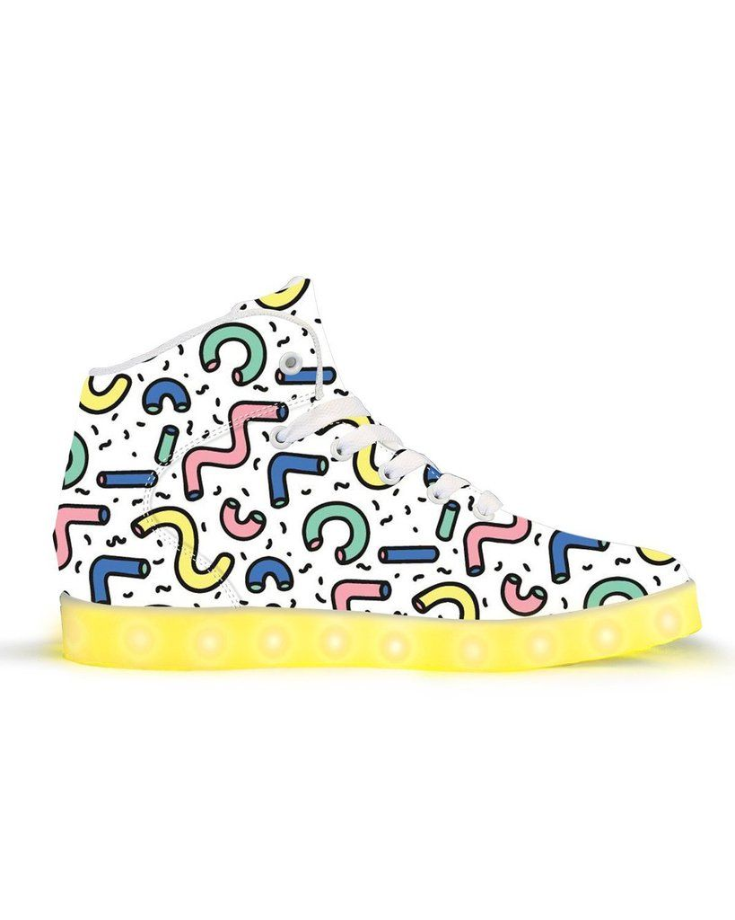 Getting Jiggy APP Controlled High Top LED Shoes Led