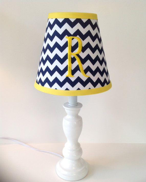 Monogrammed lamp shade navy blue chevron other by lightningbugs monogrammed lamp shade navy blue chevron other by lightningbugs mozeypictures Image collections