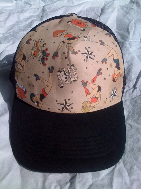 Roller Derby Trucker Hat by MarinaHina on Etsy, $26.00