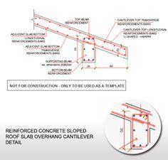 Reinforced Concrete Sloped Roof Slab Overhang Detail Reinforced Concrete Roof Concrete Design