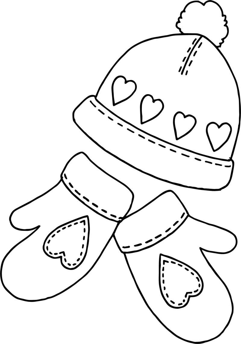 Winter Hat Sholves Coloring Page Coloring Pages Coloring Pages Winter Bear Coloring Pages