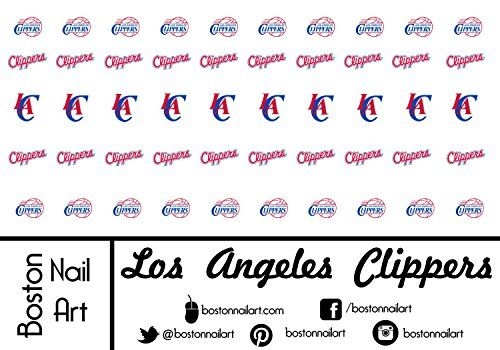 NBA  Los Angeles Clippers Waterslide Nail Decals 50pc ** You can find more details by visiting the image link. Note:It is Affiliate Link to Amazon.