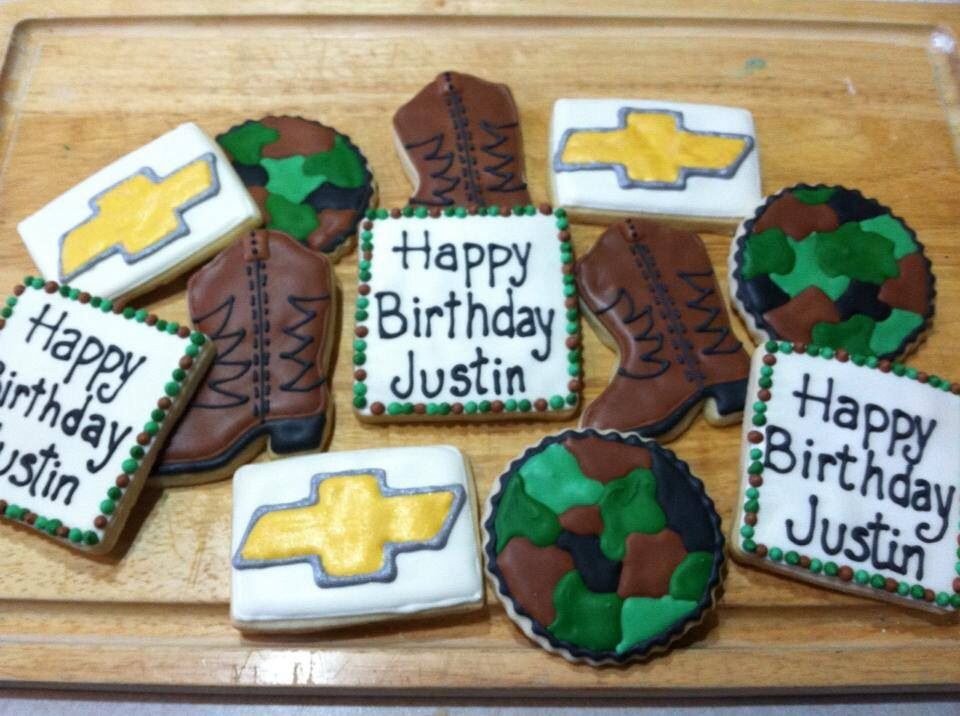 country boy birthday cookies Country Lovin Pinterest Birthday