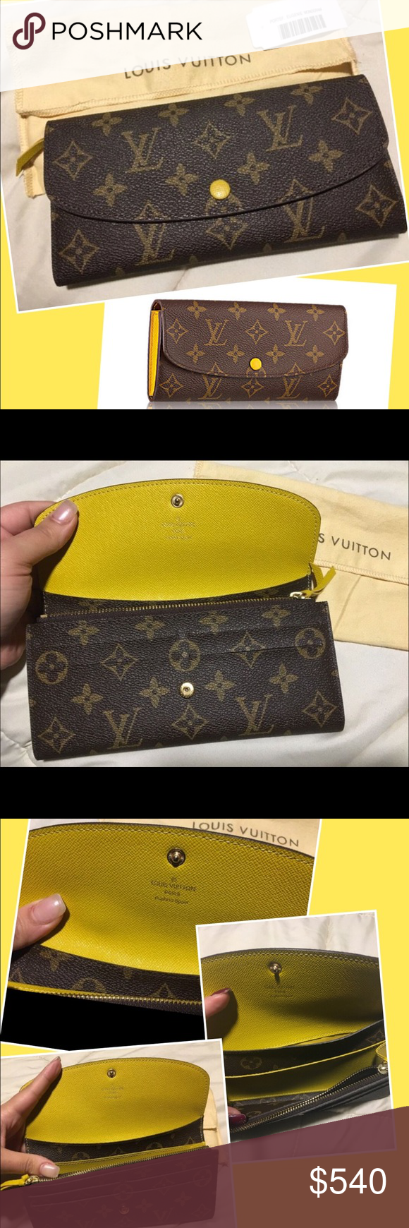bb33f1c4667aa Louis Vuitton EMILIE WALLET yellow monogram Louis Vuitton EMILIE WALLET  brand new in yellow monogram print