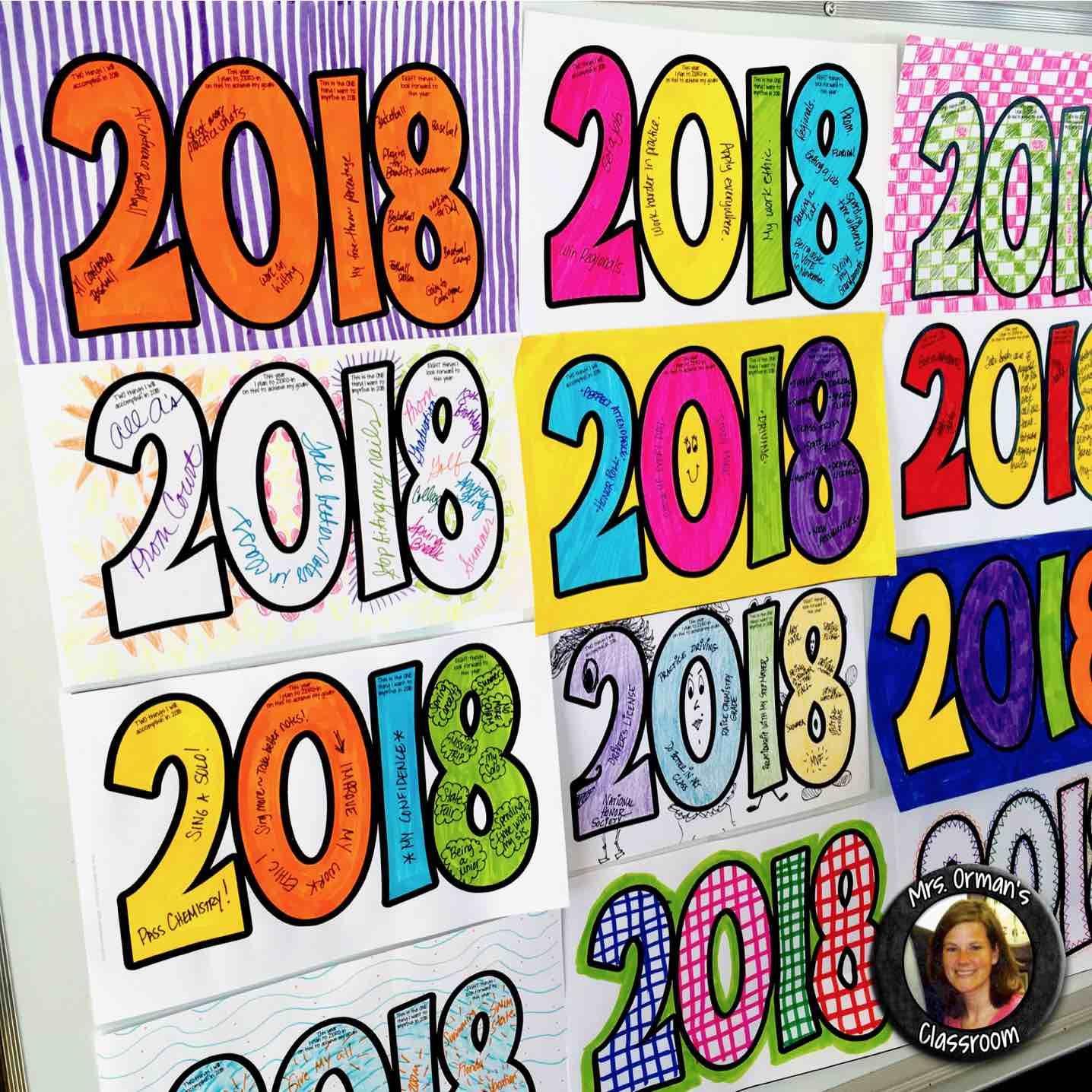 New Year Activities Resolution Goals Creative Growth Mindset