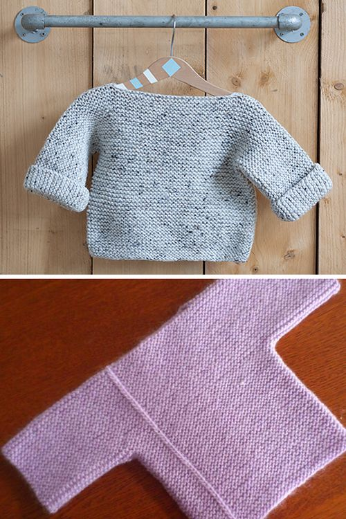 Photo of One-Piece Baby Pullover – Free Pattern