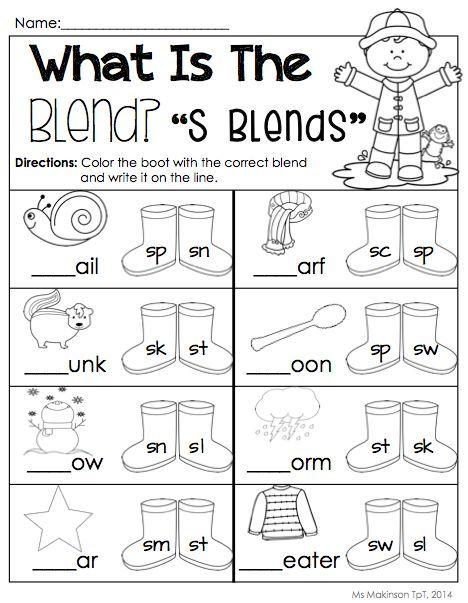 S blends | Teaching | Pinterest | Phonics, Kindergarten and Literacy
