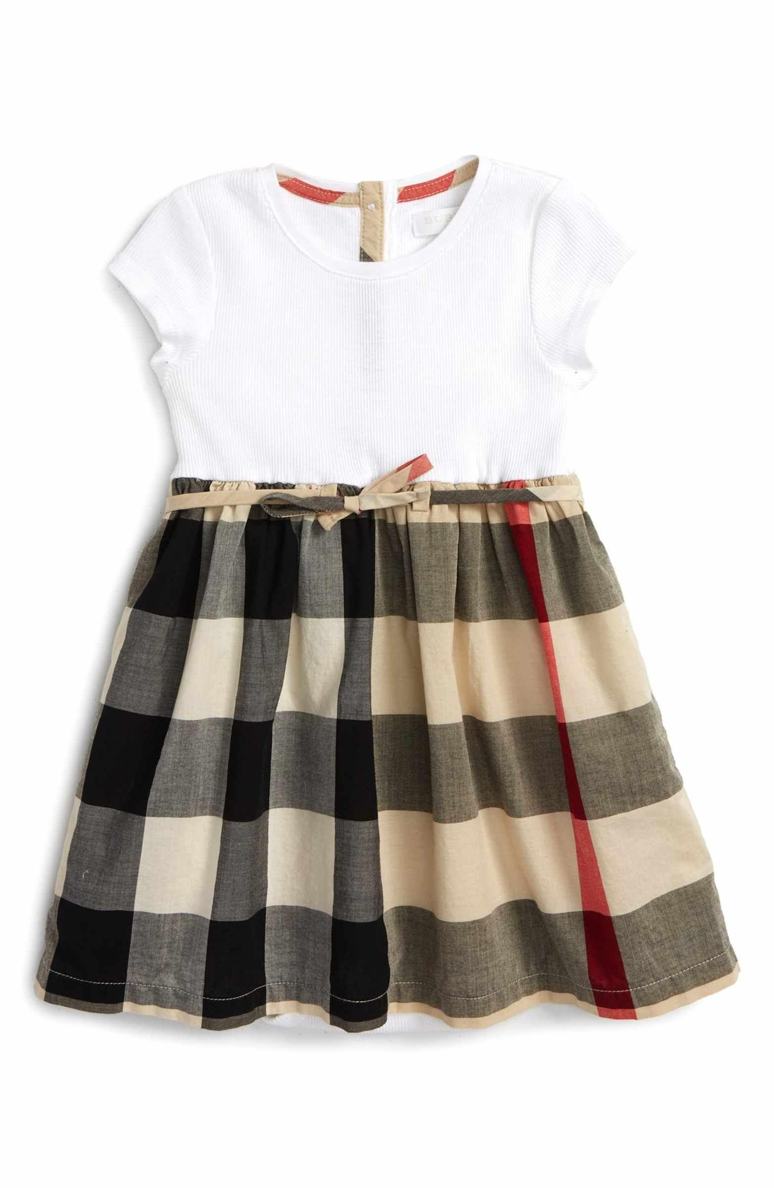 Mini Rosey Check Cotton Dress