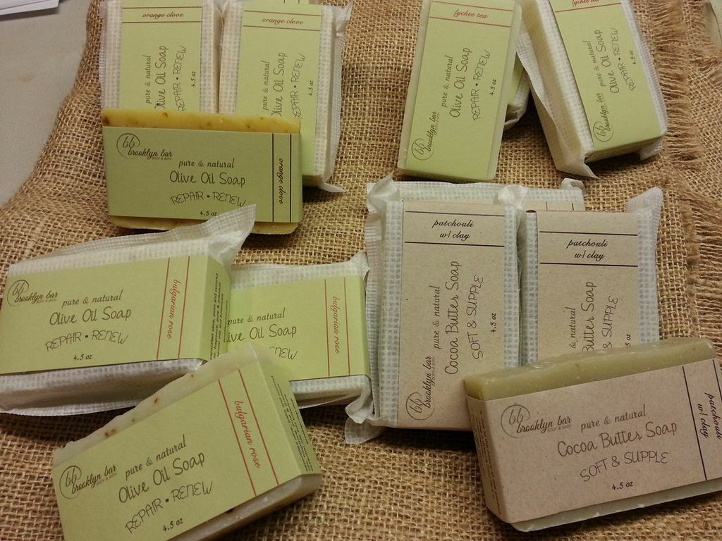 Newest from Brooklyn Bar Body & Bath:  Newest additions of natural soap in Patchouli w/ Clay, Bulgarian Rose, Orange Clove, Lychee Tea