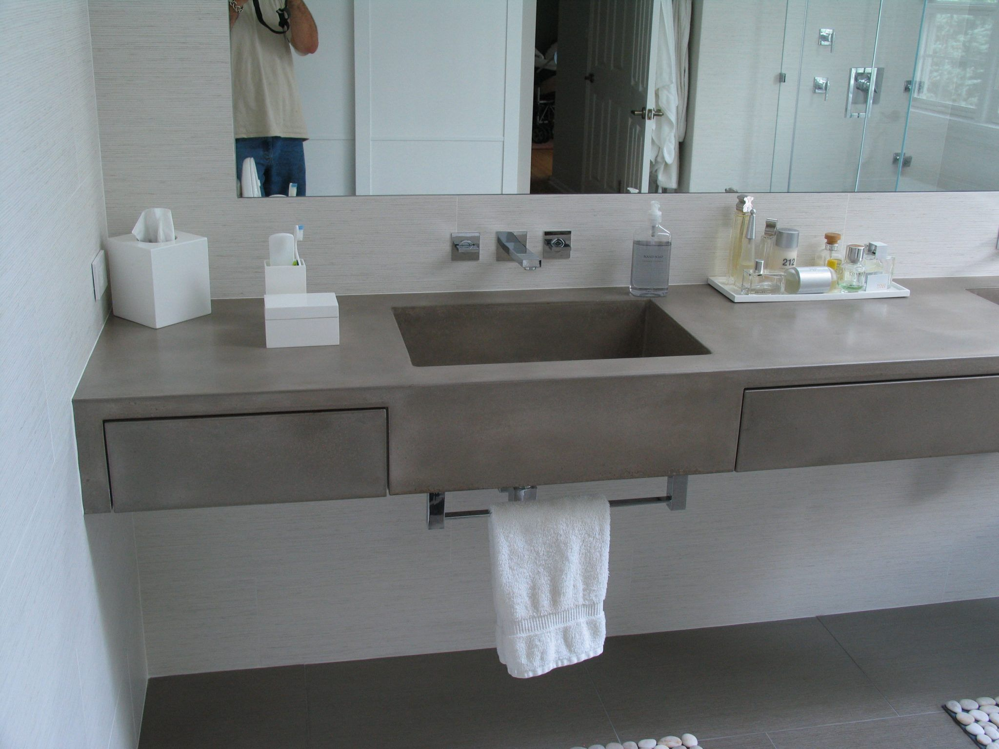 Modern Spa Master Bath – Unique and decorative concrete creations for home  and commercial use. We invented WoodForm Concrete®.