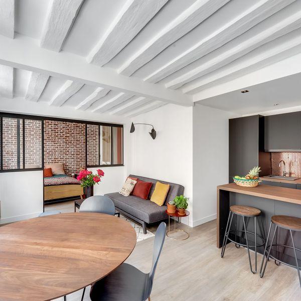 Appartement Versailles : 40 m2 à la déco branchée | Versailles ...