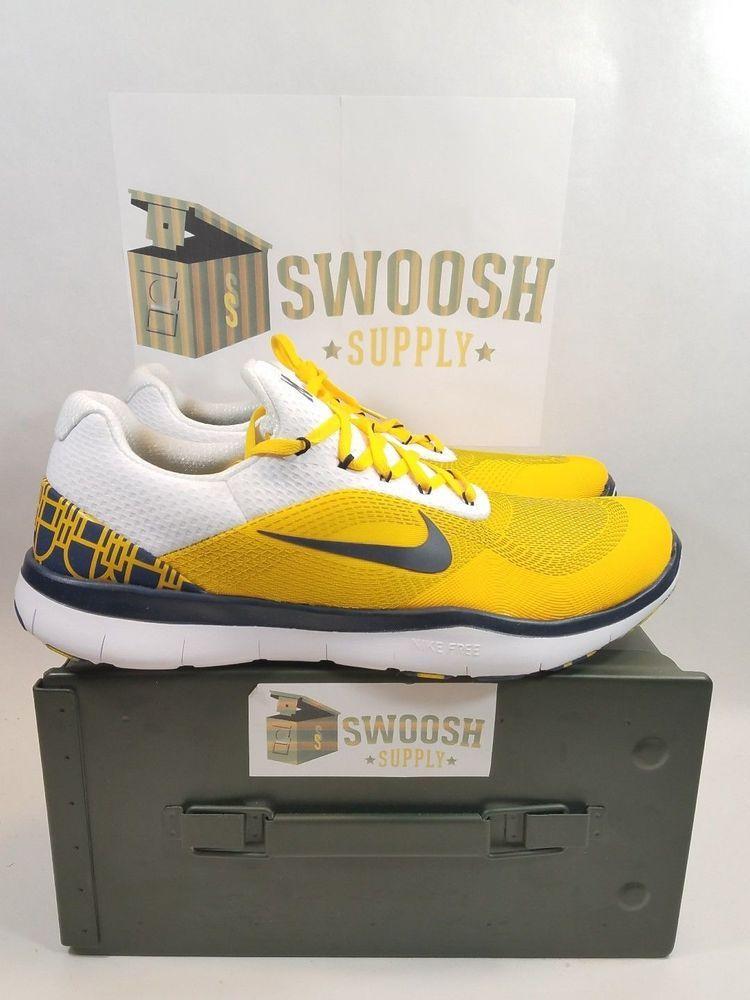 sports shoes 5b4d4 504ae Nike Free Trainer V7 Week Zero Michigan Wolverines AA0881 700 Mens Size 9  12 Nike RunningCrossTraining