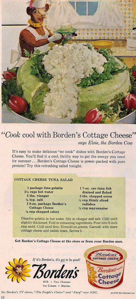 Astounding 1958 Bordens Cottage Cheese Ad Food Gone Terribly Wrong Download Free Architecture Designs Pushbritishbridgeorg