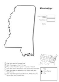 In this free Mississippi geography worksheet you will locate Mississippi on the United States map draw and label a compass rose draw and label the ...