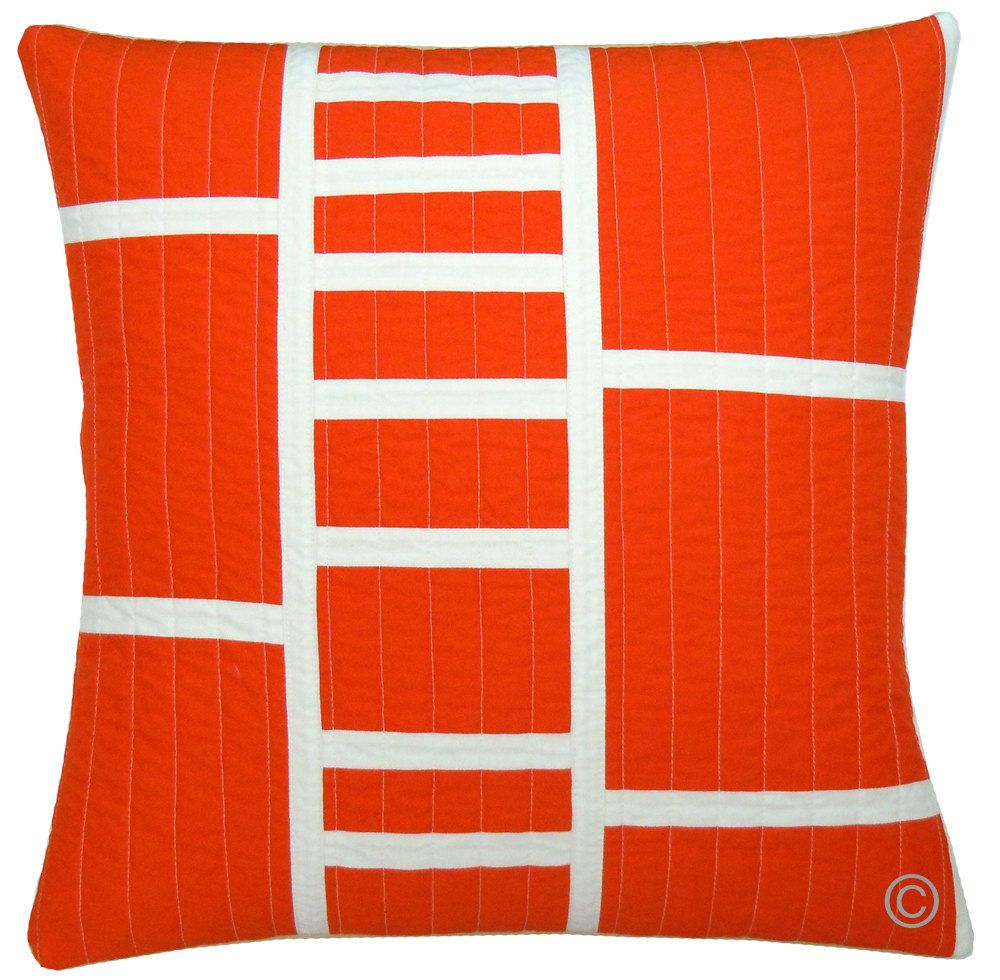Modern Quilted Pillow : Modern Throw Pillow in Tangerine #Etsy #JonathanAdler #GetChicSweepstakes Products I Love (aka ...