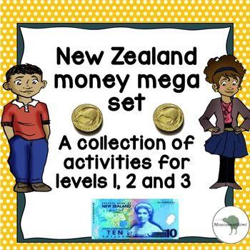 New Zealand Money Mega Bundle Levels 1 2 3 Money Worksheets Money Activities Math Measurement