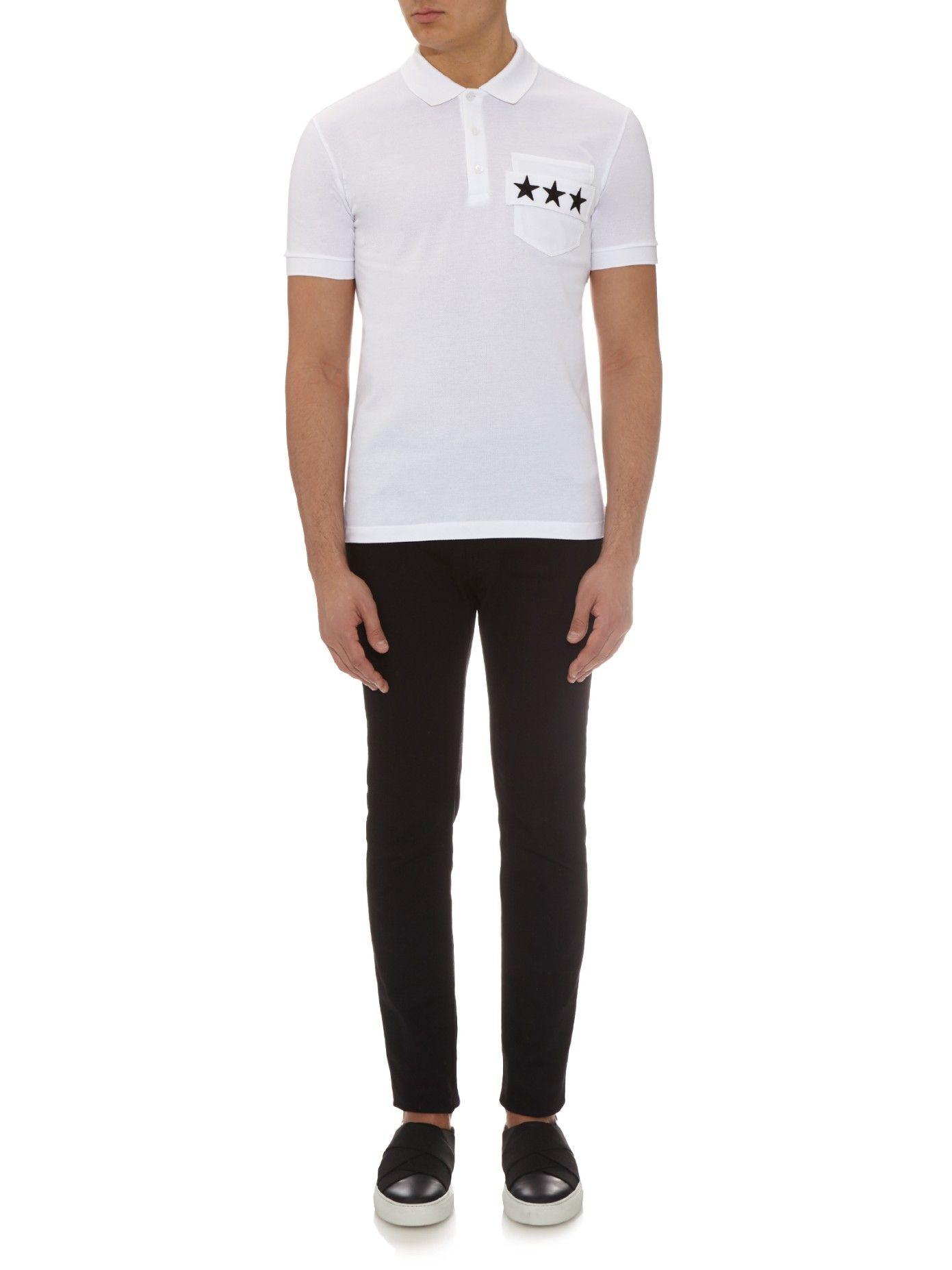 4e96d1792 Cuban-fit star-strap polo shirt