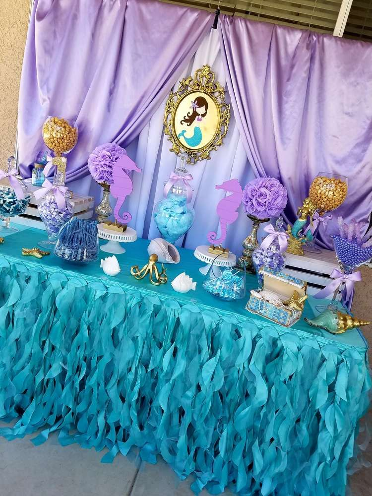 Mermaid Birthday Party Ideas Mermaid birthday party