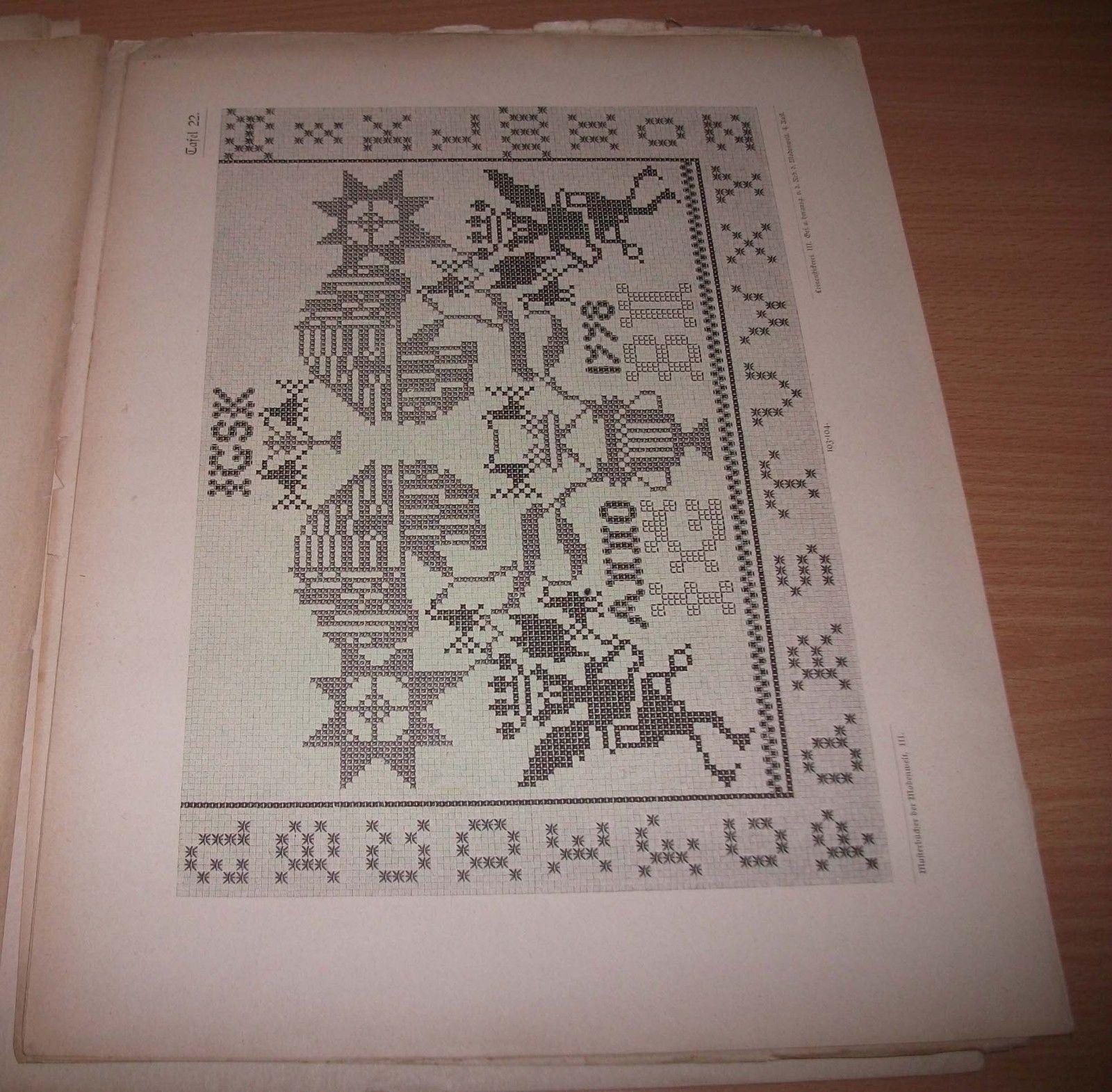 MUSTER ALTDEUTSCHER LEINEN STICKEREI 1888 Dritte Sammlung Alphabete ...