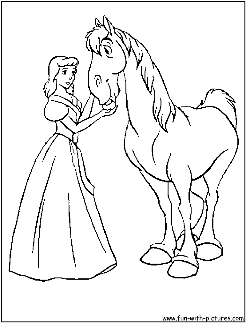 Disney Princess Cinderella Coloring Pages