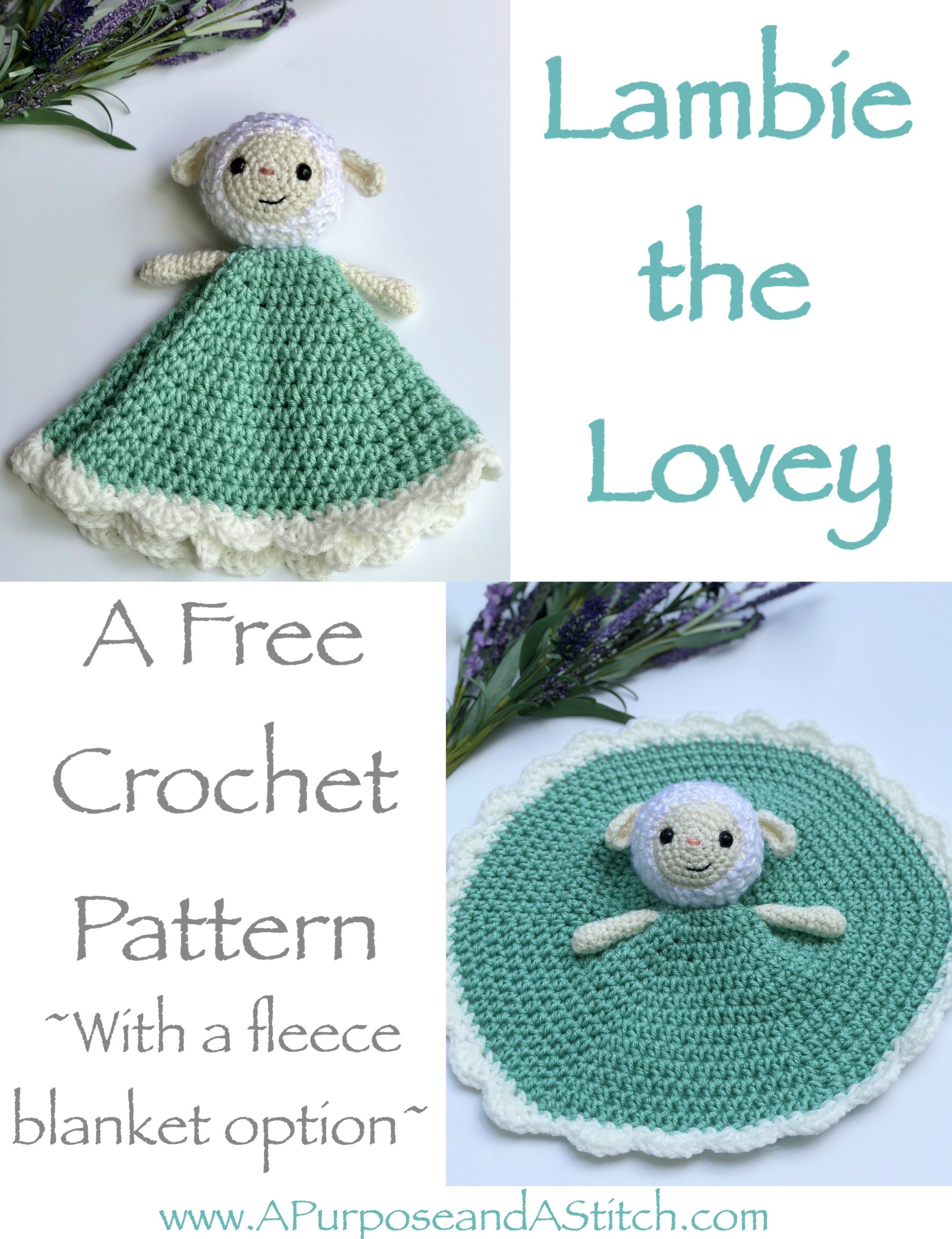 Lambie the Lovey- Free Pattern | Manta, Bebé y Mantita bebe