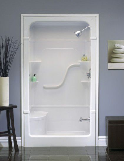 Madison 4 3-Piece Shower Stall With Seat | OFF GRID | Pinterest ...